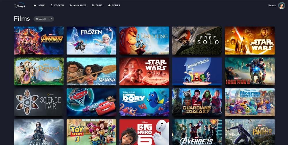 Disney+ films