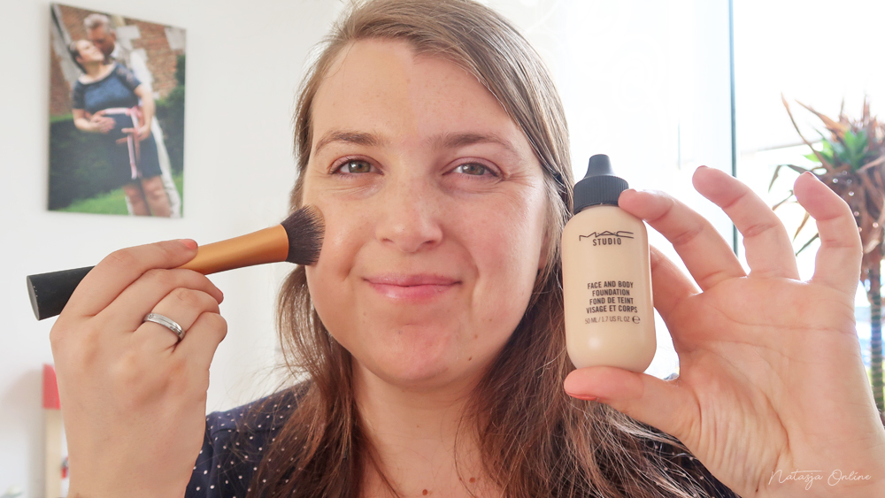 weekend make-up routine MAC body and face foundation