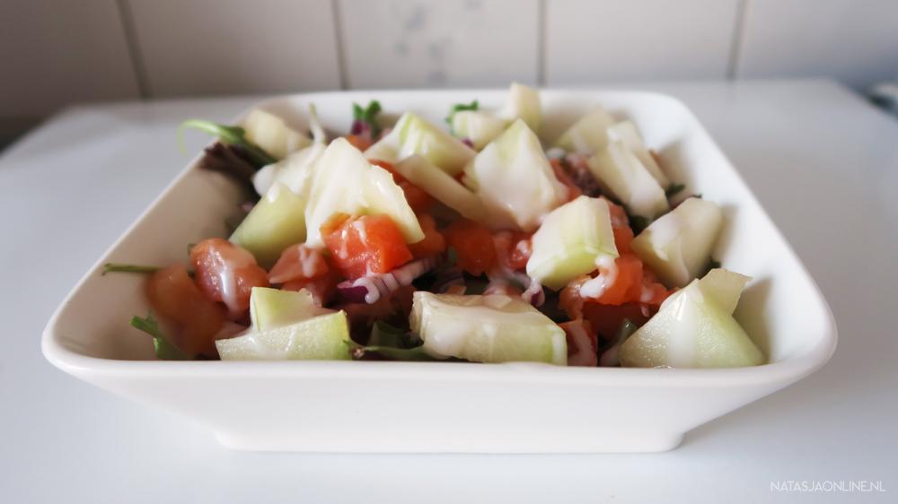 picknickrecepten salade meloen zalm bregblogt.nl