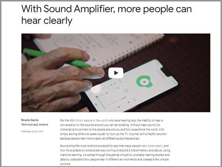 Google's Sound Amplifier app could help people with hearing loss