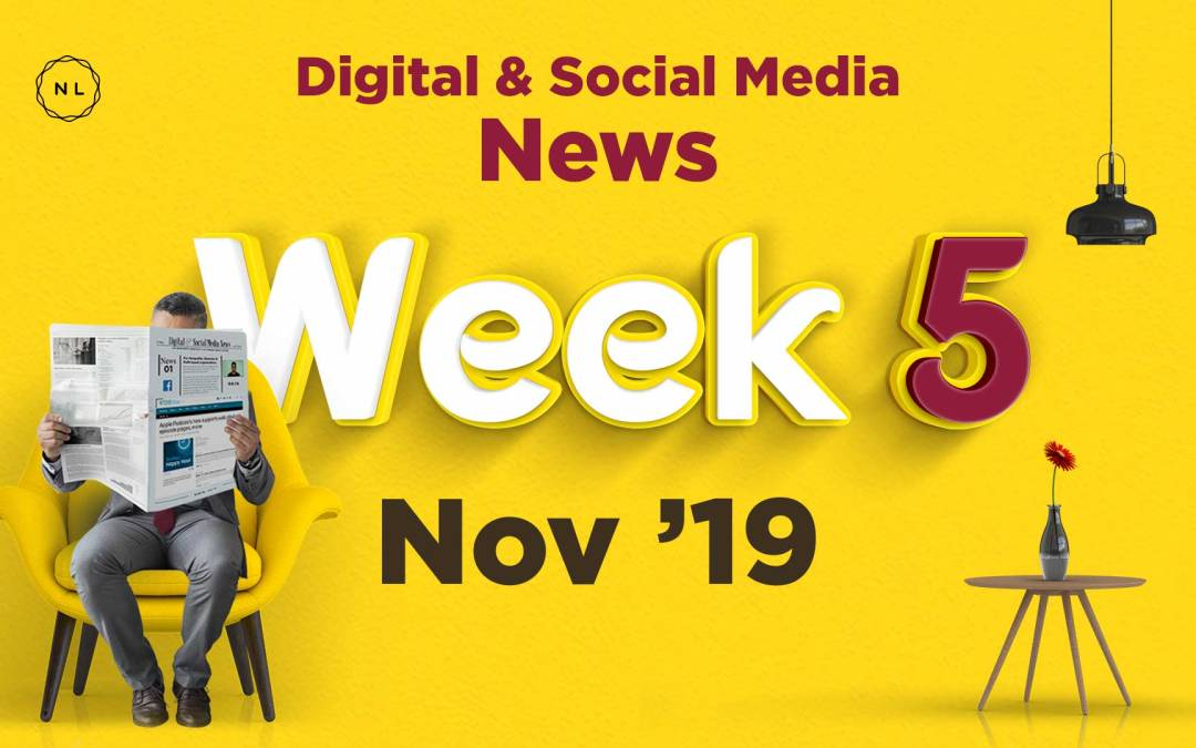 [Week 5, Nov 19] Digital & Social Media News for Nonprofits & Churches