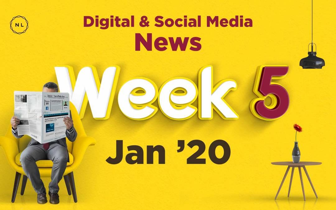 [Week 5, Jan 20] Digital & Social Media News for Nonprofits & Churches