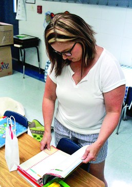 """Stephanie Tucker, first grade teacher at St. Mary's. """"Children grow a lot in the first grade, so I'm very excited to watch them grow this year."""""""