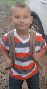 Raegan Ensinger was all smiles on his first day of second grade Florien High School.His parents are Doug and Kasey Ensinger.