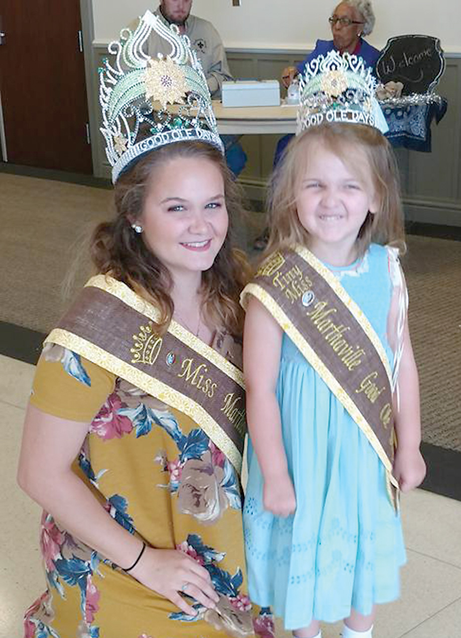 Miss Shelby Greer and Tiny Miss Emma Fontenot at Natchitoches Fair and Rodeo Pageant