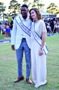 Homecoming King and Queen, Antavious Roberson and Mallory McConathy.