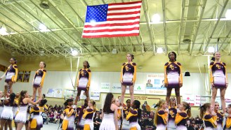 The NCHS Chiefettes performed to the tribute song, 'Will You Remember,' during the program at NCHS.