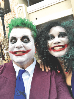 Stephen Nelson as The Joker and KD Escobedo as The Lady Joker