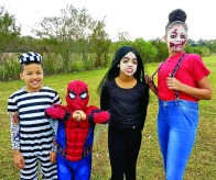 Brothers and sisters, from left, are Gregory Jones, 8, Harper Jones, 6, Brooklyn Jones, 10, and Arianna Armstrong, 12.
