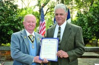 Sandy McNeely presented a certificate of appreciation to Don Mims.