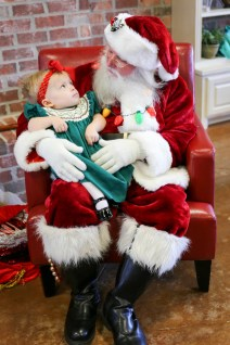 Riley Allison with Santa.