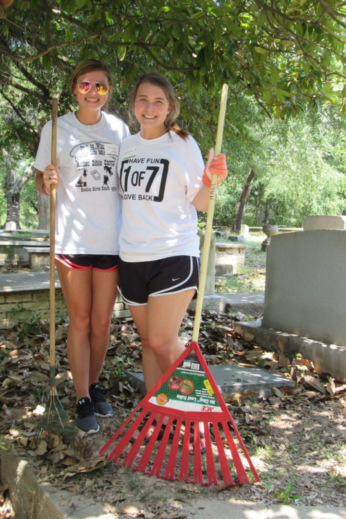 """Alanna Woodel - """"I've been part of the PLP since I was a freshman. I'm from the area and it's just great to give back to my community."""" Clair Leming - """"As the 1 of 7 Co-Chair, I love doing community service for a community that gives so much to us. I'm proud to do this not only as a Demon, but as a Natchitoches resident."""""""