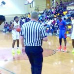 NCHS-Zamauri Miller at the free throw line for the and one