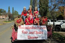 The Natchitoches Parish Fair and Rodeo Queens are, front row from left, Tiny Miss Harper Armstrong and Petite Miss Peyton Faucheaux. In back are Jr. Miss Luci Carr, Miss Queen Shelby Greer holding Toddler Miss Cashlyn LaCaze and Teen Miss Alayna Eddington.