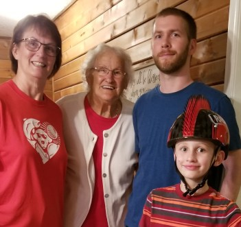 These four generations include Eve Bryant, her mother Lillie Mae Johnson, her son Isaac Bryant and her grandson Noah Bryant.