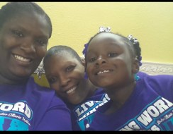 These three generations include Sandra Williams, Myah Williams and Aniyah Williams.