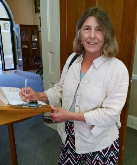 Rulinda Price, a librarian from Hughes Library in Greenville, S.C., traveled to Natchitoches to research information about the Teal, Faure and Fore Families.