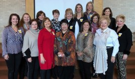 Chapter BK On first row from left are Angela Eversull, Melanie Lee, Pearl Walker, Brenda Melder, Debbie Roy, Cathy Seymour and Jacque Horton. On second row are Lee Akin, Terri Cunningham, Gayle Bernard, Susan Barron, Joelle Evans, Karen Townsend, Connie Melder and Linda Burke.
