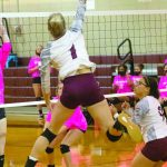 VB-Anna-Kate Arthur (1) ends the game against Parkway with another kill