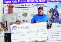 Second place went to Jim Franklin and Matt Morgan with 26.53 pounds for their five fish.