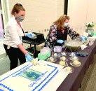 Cake and refreshments were served