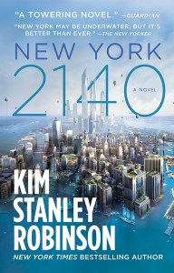 "Cover of the novel ""New York 2140."""