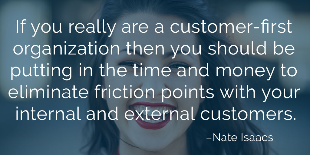 Image quote about the importance of removing friction points from your customer experiences