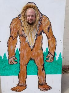 Scott as Sasquatch at the Boathouse in Ely, Minnesota