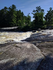Lower Basswood Falls in the BWCA
