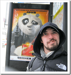 We waited for a while at this bus stop. I practiced trying to make the same face as the Kung Fu Panda (apparently huge in Germany) and I think I got pretty close. Over the rest of the trip, I kept making the same face in front of other things.