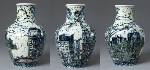 vase (New York gardian of the bridge)