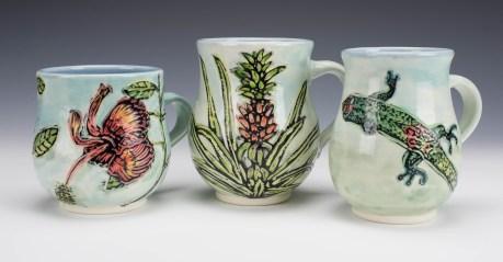Hawaiian Flora & Fauna (hibiscus, pineapple, gecko)