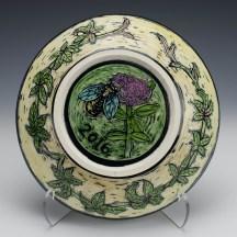 (reverse) Virginia Creeper & Meadowsweet & Bee