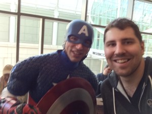 What's a con without taking a selfie with a superhero?
