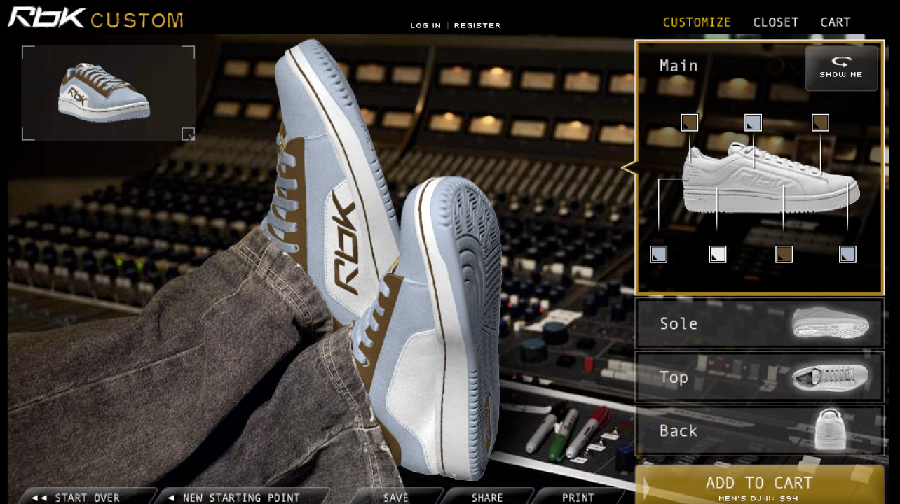RBK Sneaker Configurator – Nathan Moody