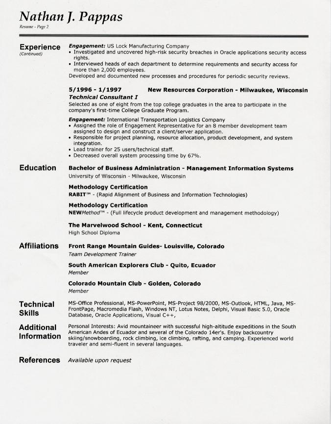 Resume Page Numbers. resume format page numbers samples do you put ...