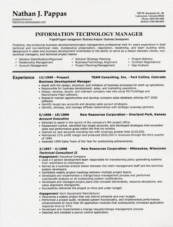 1 Page Resumes. Resume Example Constructions Management Resume