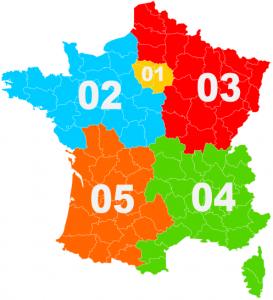 Carte France Indicatifs Telephoniques