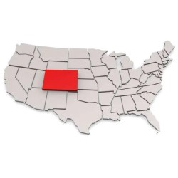 Colorado in map of the United States