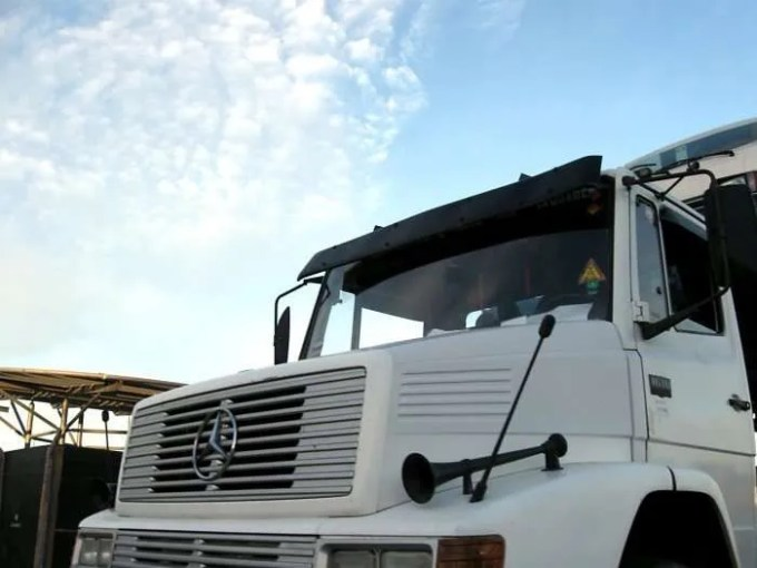 view of a truck from the front