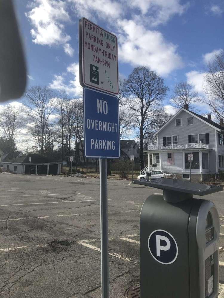 natick center no overnight parking