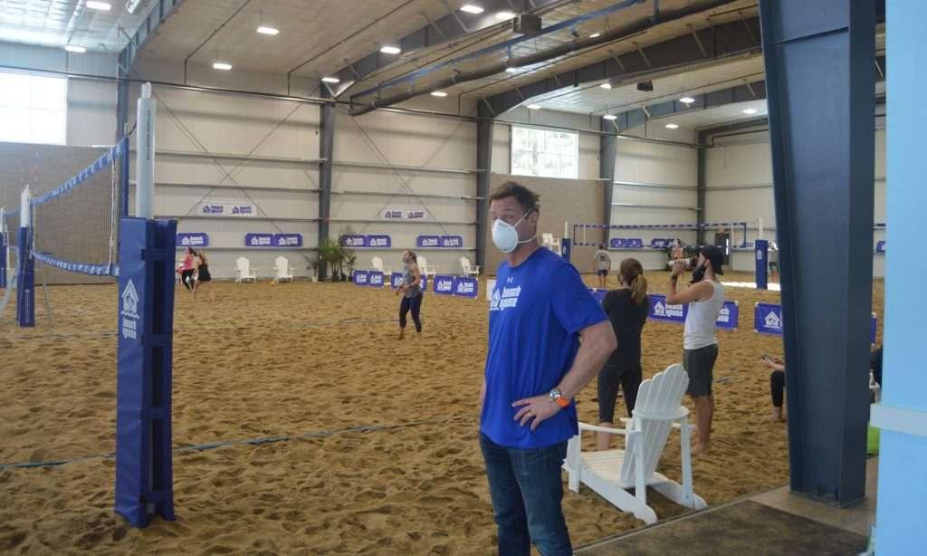 beach house volleyball