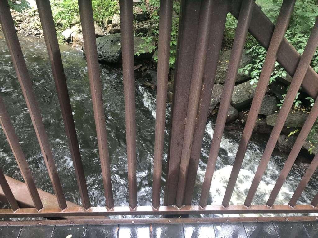bridge, water framingham section of rail trail