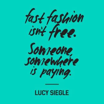 Citation du collectif whomademyclothes contre la fastfashion