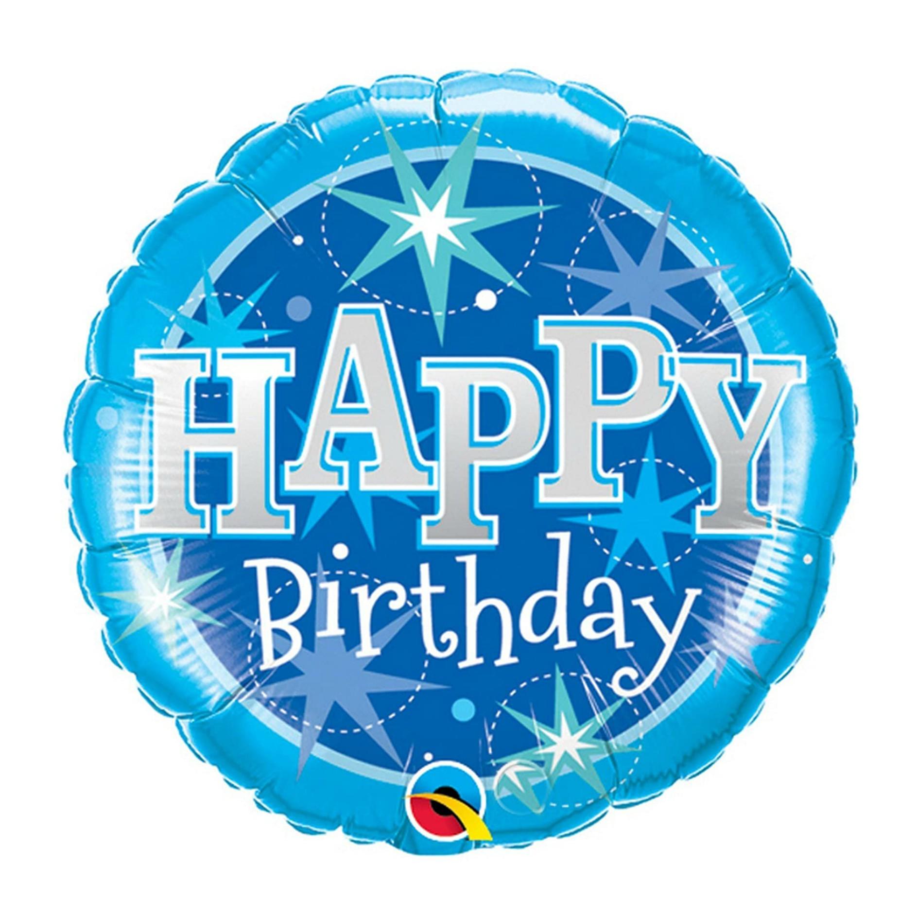 Blue Starburst Happy Birthday Balloon National 5 And 10