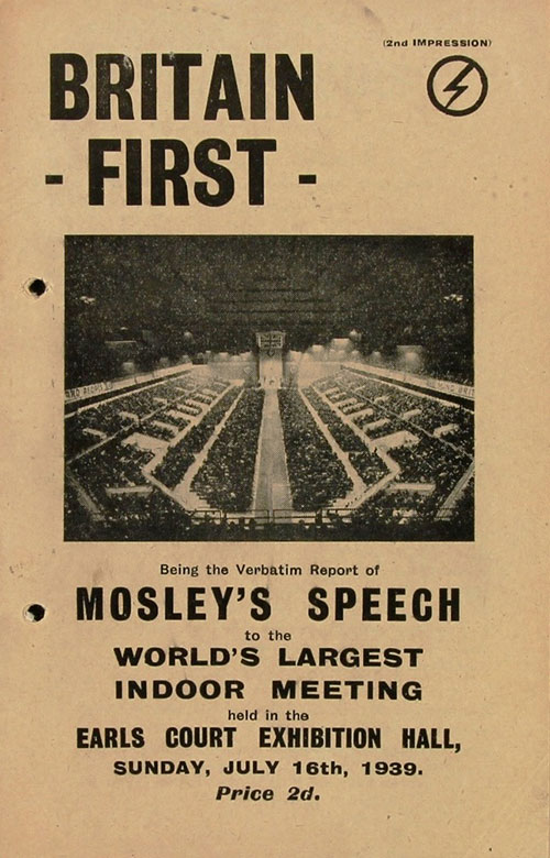 Mosley Britain First propaganda poster