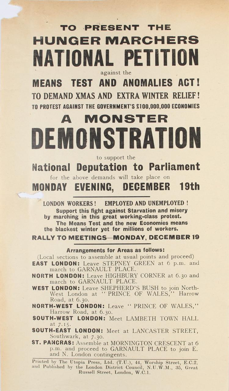Monster Demonstration The National Archives