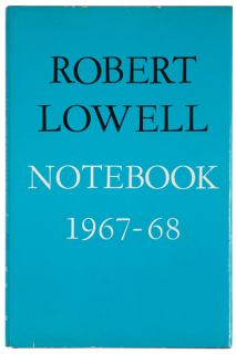 Cover of Notebook 1967-68 by Robert Lowell