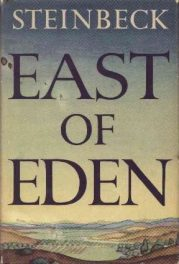 First edition cover of John Steinbeck's East of Eden