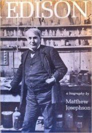 Edison by Matthew Josephson book cover